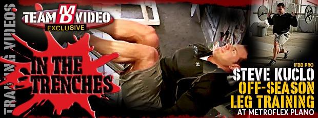 Article: Leg training - updates on Steve Kuclo!