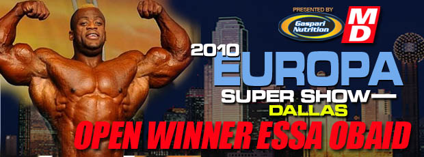 Europa Super Show 2010 winner Essa Obiad, bodybuilding contest