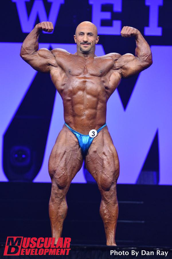 Mohamad Bannout en las semifinales de Mr Olympia 2015