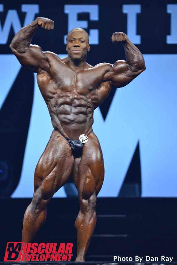 Shawn Rhoden en las semifinales de Mr Olympia 201