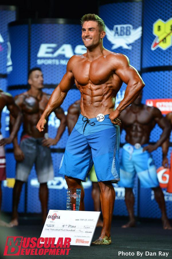Ryan Terry, cuarta posición en Men's Physique Olympia 2015