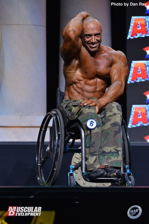 Ludovic Marchand, segundo clasificado en culturismo en silla de ruedas.