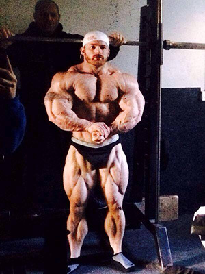 Flex Lewis pictured on December 28, 2013. What will he look like on March 1st?