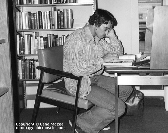 arnold reading a book
